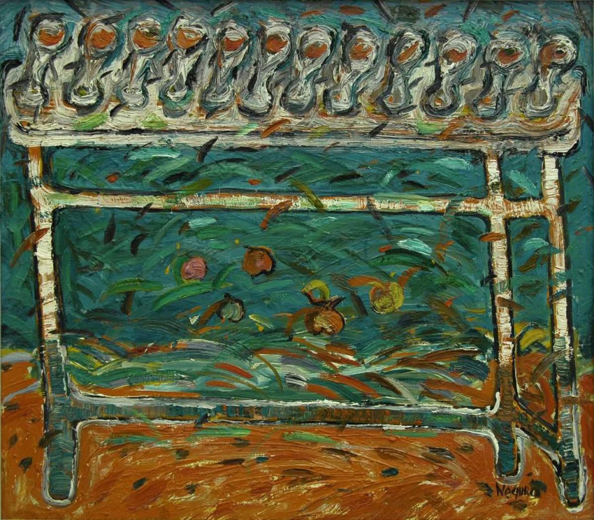 Din ciclul Festive, 1998, ulei pe pînză, 600x700 mm