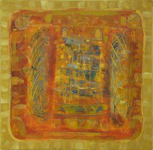 Pergament nr.12, 2006, ulei pe pînză, 800x800mm