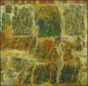 Procesiune Mare, 2006, ulei pe pînză, 160x160cm