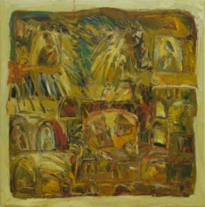 Pergament nr.25, 2007, ulei pe pînză, 800x800mm