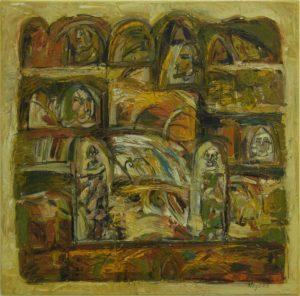Pergament nr.26, 2007, ulei pe pînză, 800x800mm