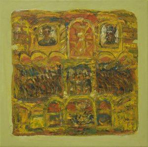 Pergament nr.28, 2008, ulei pe pînză, 800x800mm