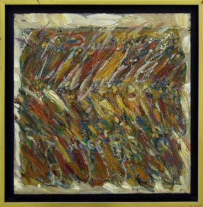 Procesiune mică nr.5, 2007, ulei pe pînză, 400x400mm