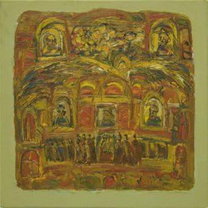 Pergament nr.30, 2008, ulei pe pînză, 800x800mm