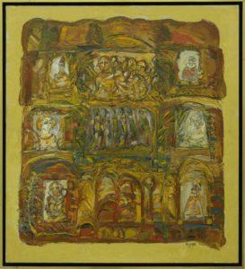 Pergament, 2008, ulei pe pînză, 1050x955mm
