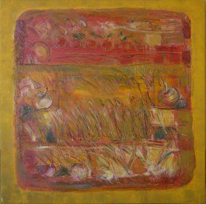 Pergament nr.13, 2006, ulei pe pînză, 800x800mm