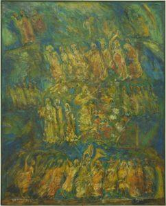 Procesiune cu Trubadur, 2008, ulei pe pînză, 160x120cm