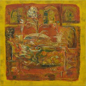 Pergament festiv, 2008, ulei pe pînză, 800x800mm