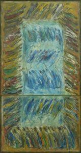 Procesiune verticală nr.2, 2005, ulei pe pînză, 800x1,600mm