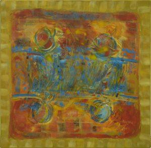 Pergament nr.15, 2006, ulei pe pînză, 800x800mm