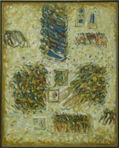 Procesiune în alb, 2005, ulei pe pînză, 1000x800mm