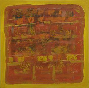 Pergament nr.18, 2007, ulei pe pînză, 800x800mm