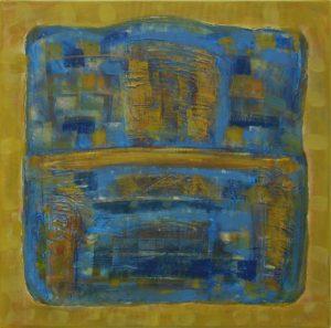Pergament nr.19, 2007, ulei pe pînză, 800x800mm