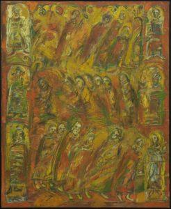 Procesiune în roșu, 2005, ulei pe pînză, 1000x800mm