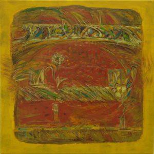 Pergament nr.20, 2007, ulei pe pînză, 800x800mm