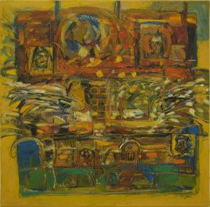 Pergament nr.22, 2007, ulei pe pînză, 800x800mm